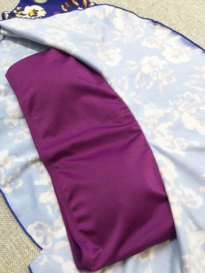 Off The Shoulder Ruffles Bikini - MULTICOLOR M Mobile