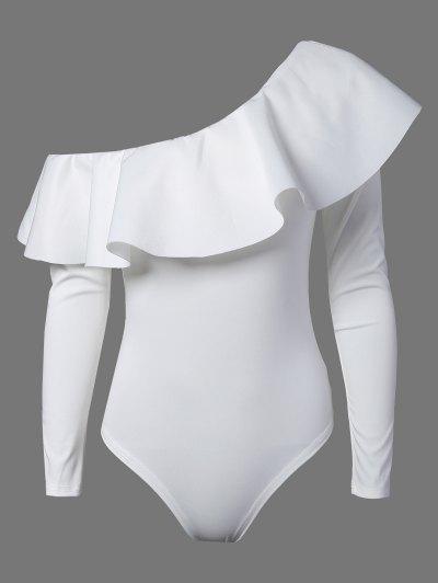 Ruffles Long Sleeve Skinny Bodysuit - WHITE S Mobile