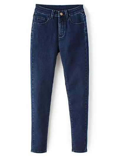 Zip Fly High Waisted Jeans