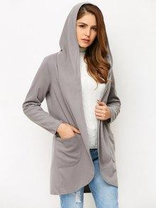 Cotton Open Front Coat