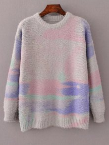 Oversized Space Dye Sweater