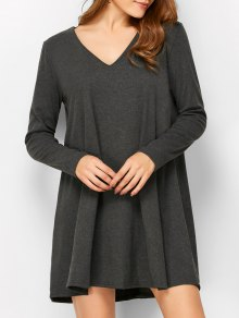 Long Sleeve Smock Mini Dress