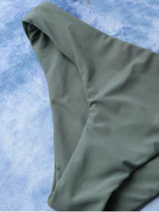 Lace Up Bikini Swimwear - ARMY GREEN L Mobile