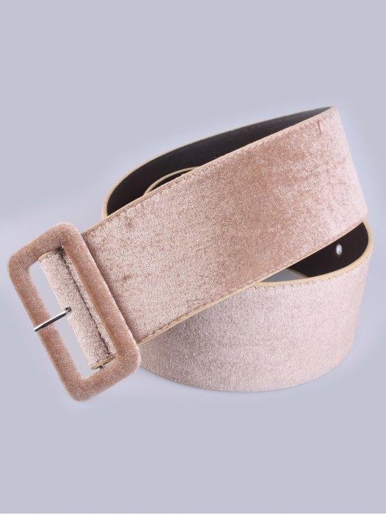 Velvet Waist Belt - KHAKI  Mobile