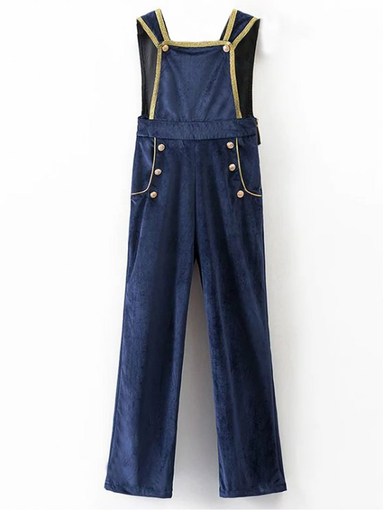 Velour Sailor Overalls - BLUE M Mobile