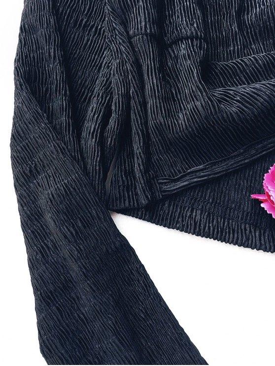 Keyhole Twist Front Crop Top - BLACK XL Mobile