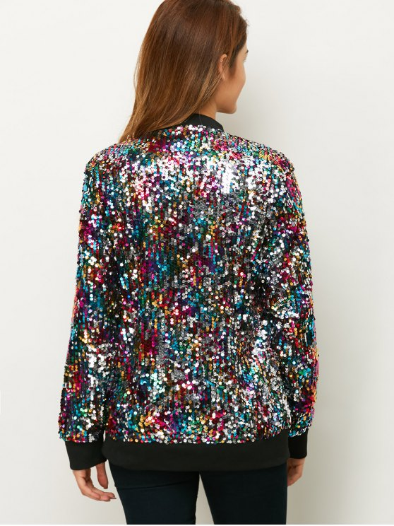 Sequins Bomber Jacket - MULTICOLOR L Mobile