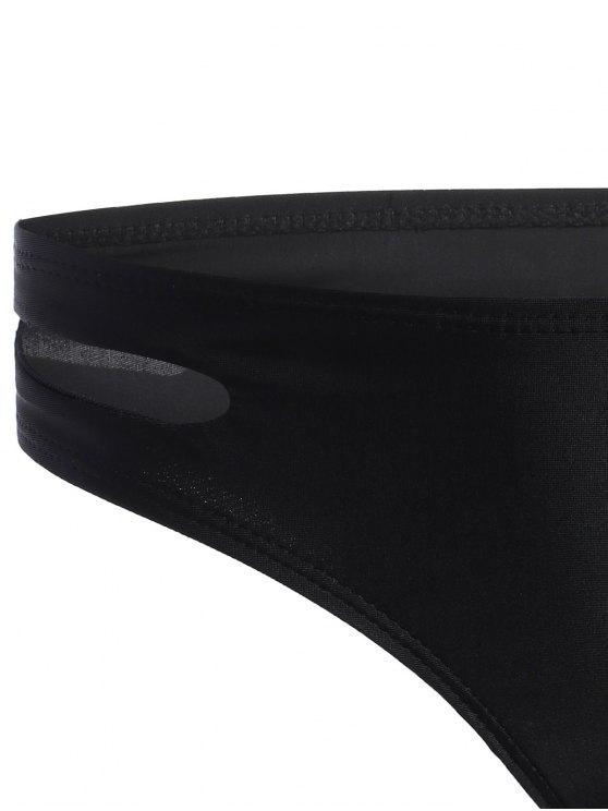 Cross Front Seamless Bandage Bikini - BLACK S Mobile