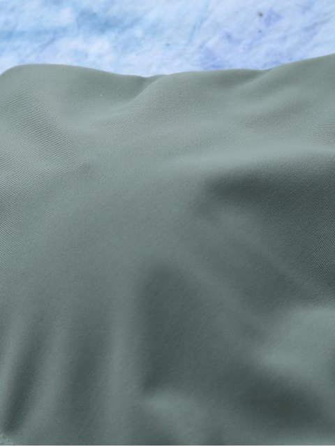 best Lace Up Bikini Swimwear - ARMY GREEN L Mobile