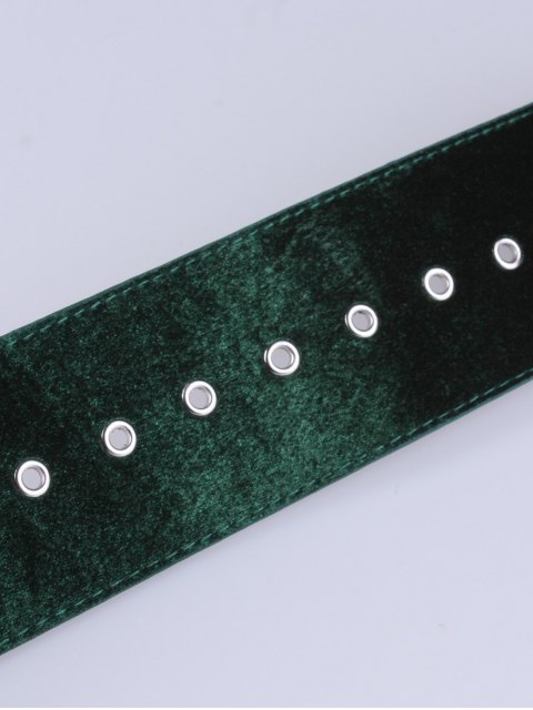womens Velvet Waist Belt - ARMY GREEN  Mobile