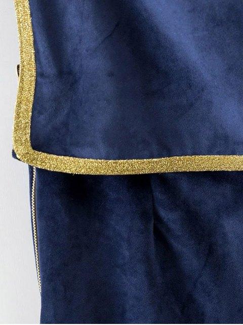 affordable Velour Sailor Overalls - BLUE M Mobile