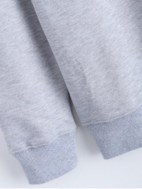 sale Streetwear Letter Pattern Sweatshirt - GRAY M Mobile