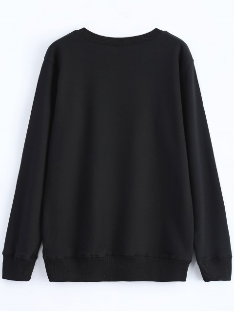 buy Streetwear Glasses Pattern Sweatshirt - BLACK L Mobile