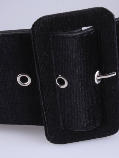 Velvet Waist Belt - BLACK  Mobile