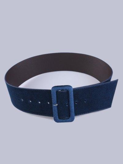 Velvet Waist Belt - CADETBLUE  Mobile