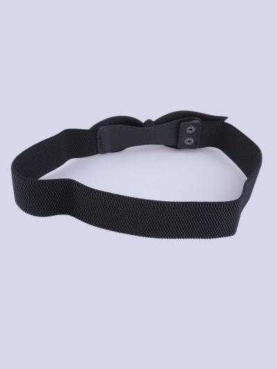 Bowknot Elastic Waist Belt - BLACK  Mobile