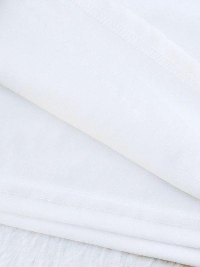 Rose Mini Bodycon Skirt - WHITE 2XL Mobile