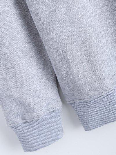 Streetwear Letter Pattern Sweatshirt - GRAY S Mobile