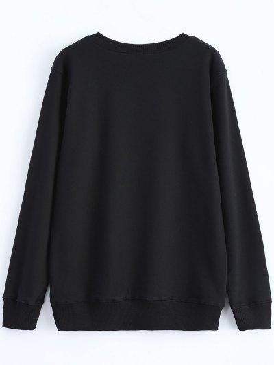 Streetwear Glasses Pattern Sweatshirt - BLACK M Mobile