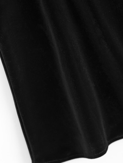 Eyelash Lace Velvet Camisole Top - BLACK XL Mobile