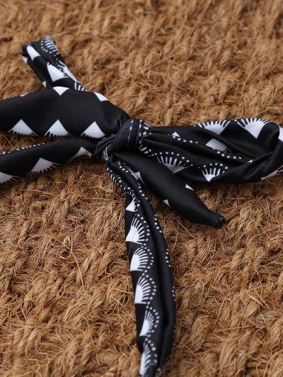 Tie Side Halter Thong Bikini - BLACK M Mobile