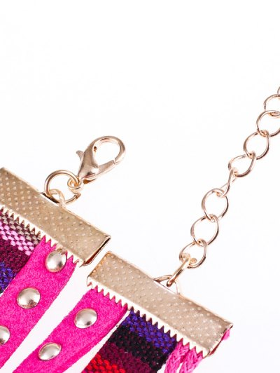 Braided Rhinestone Strand Bracelet Watch - TUTTI FRUTTI  Mobile