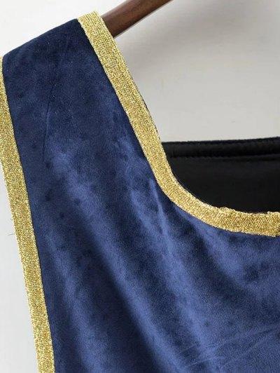 Velour Sailor Overalls - BLUE L Mobile