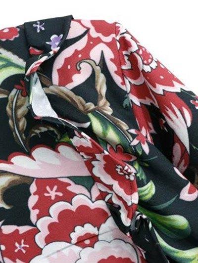 Floral Lace Panel Dress - FLORAL M Mobile