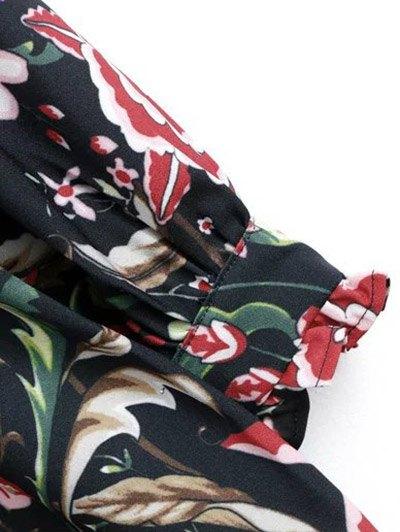 Floral Lace Panel Dress - FLORAL L Mobile