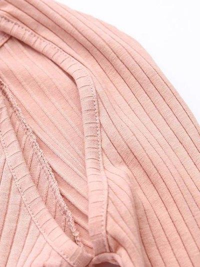 Cutout Ribbed Knitwear Dress - BLACK M Mobile