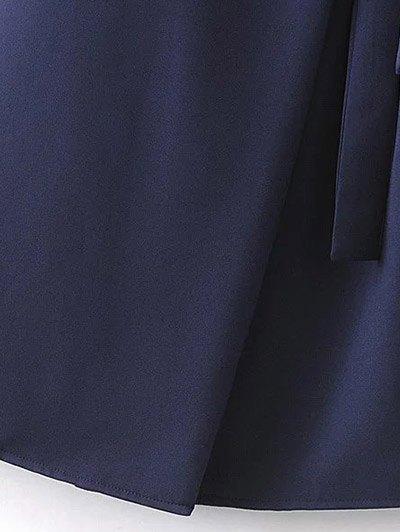Self Tie Wrap Cami Dress - CADETBLUE M Mobile