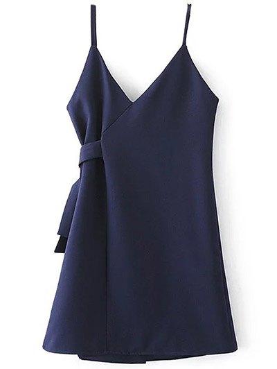 Self Tie Wrap Cami Dress - CADETBLUE S Mobile