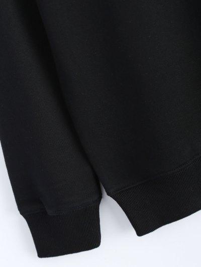 Streetwear Glasses Pattern Sweatshirt - BLACK L Mobile