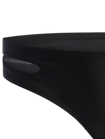 Cross Front Seamless Bandage Bikini - BLACK L Mobile