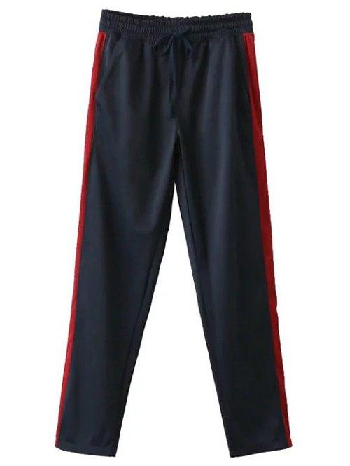 Buttoned Hem Sports Pants