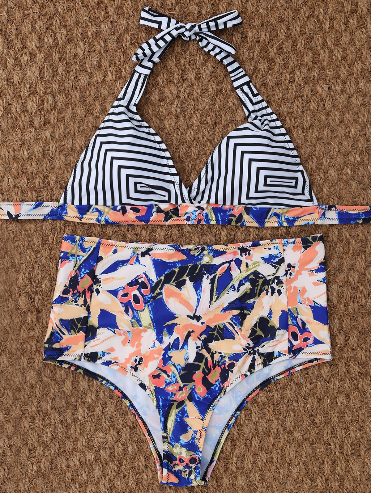 High Waisted Halter Bikini Set