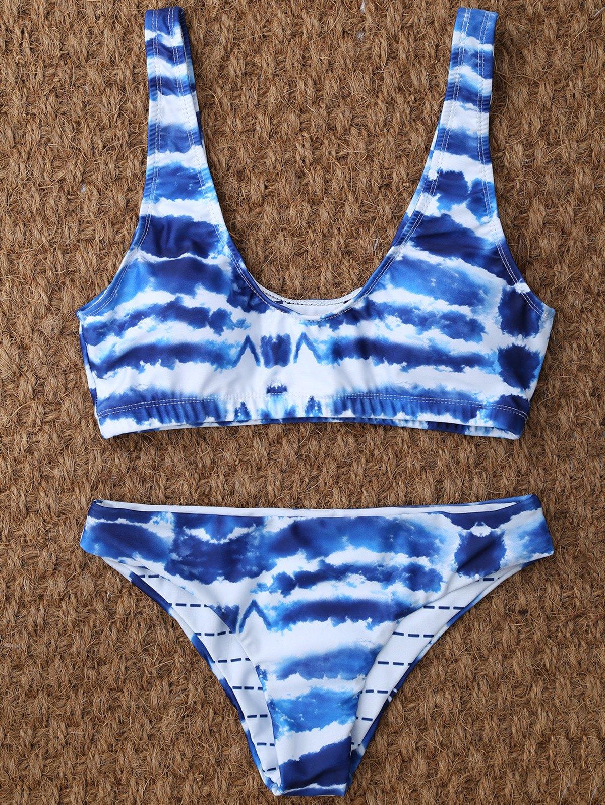 Tie Dye U Neck Bikini