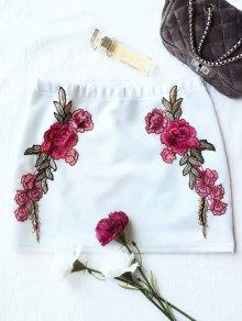 Rose Mini Bodycon Skirt - White
