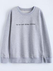 Streetwear Letter Pattern Sweatshirt