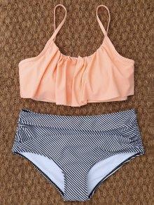Bikinis Taille Haute à Rayures - L