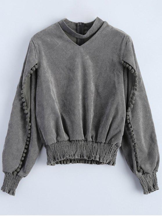 Sweatshirt surdimensionné à col choker - Gris M