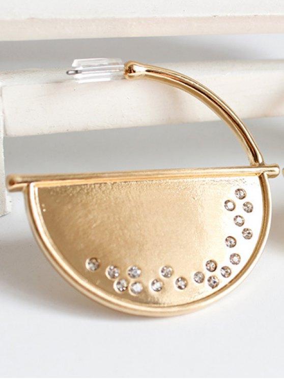 Half Disc Drop Earrings - GOLDEN  Mobile