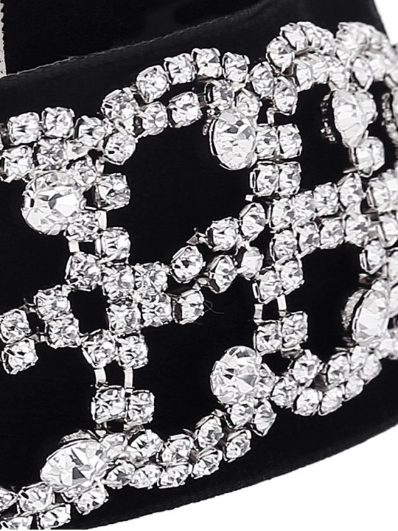 Rhinestone Flannel Fake Collar Necklace - SILVER  Mobile