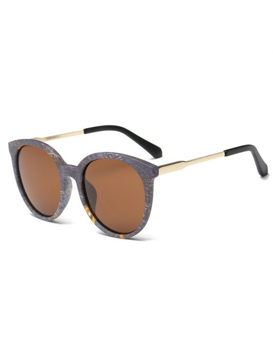 outfits Marble Pattern Cat Eye Sunglasses - GRAY