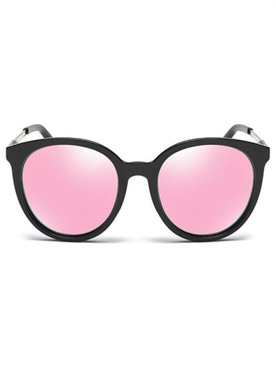 Mirrored Cat Eye Sunglasses - PINK  Mobile