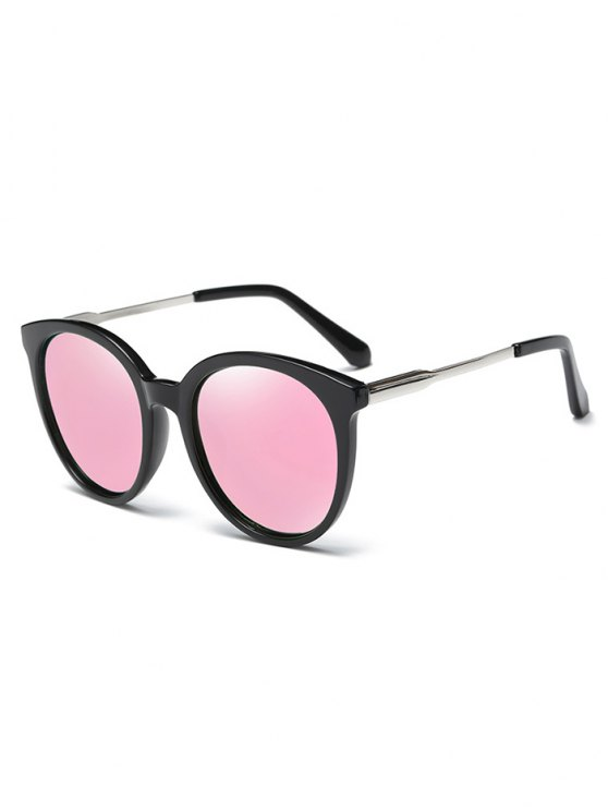 shop Mirrored Cat Eye Sunglasses - PINK