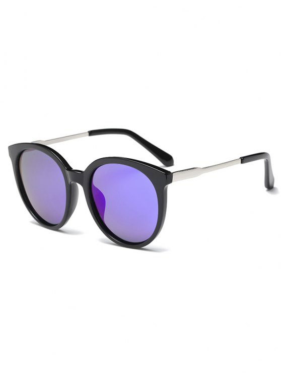 Mirrored Cat Eye Sunglasses - BLUE  Mobile