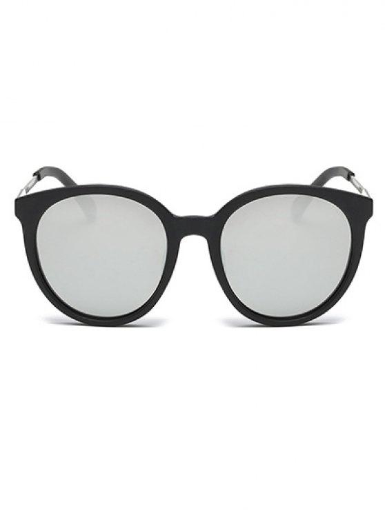 Mirrored Cat Eye Sunglasses - SILVER  Mobile