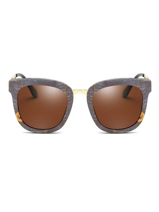 Marble Pattern Butterfly Frame Oversized Sunglasses - GRAY  Mobile