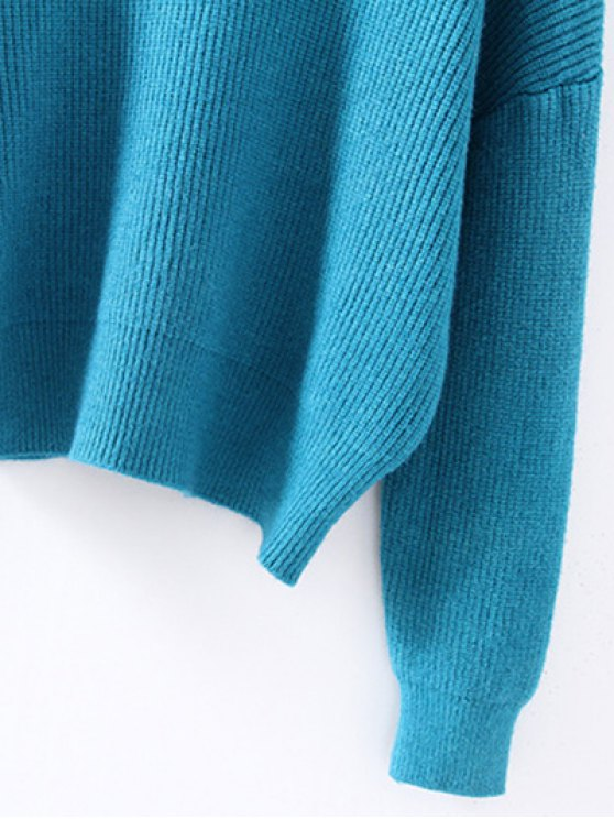 Turtleneck Relaxed Jumper - LAKE BLUE ONE SIZE Mobile